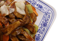 китайская еда Зажаренные aubergines с овощами Стоковое Изображение RF