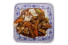 китайская еда Зажаренные aubergines с овощами Стоковые Фотографии RF
