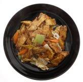 китайская еда Зажаренные aubergines с овощами Стоковое Изображение