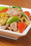 Китайская еда --Замаринованная говядина капусты Стоковое Фото