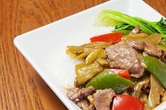Китайская еда --Замаринованная говядина капусты Стоковое фото RF