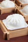 Китайская еда, испаренная заполненная плюшка Стоковые Изображения