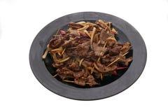 китайская еда Китайская пряная телятина на ручке Стоковое Изображение