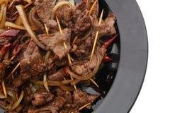 китайская еда Китайская пряная телятина на ручке Стоковое Изображение RF