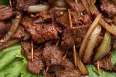 китайская еда Китайская пряная телятина на ручке Стоковое фото RF