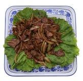 китайская еда Китайская пряная телятина на ручке Стоковые Изображения
