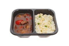 Китайская еда микроволны Стоковое фото RF