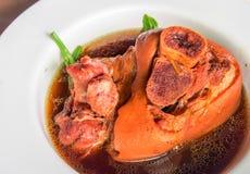 Китайская еда, нога свинины чирея Стоковая Фотография RF
