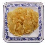 китайская еда обломоки изолировали белизну картошки Стоковая Фотография RF