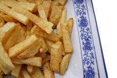 китайская еда обломоки изолировали белизну картошки Стоковое Изображение RF
