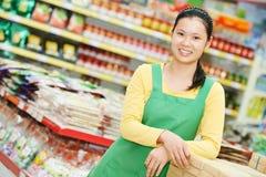 Китайская еда покупок женщины Стоковые Фотографии RF