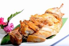 Китайская еда: Провозглашанный тост цыпленок Стоковое Изображение RF
