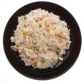китайская еда Рис с ветчиной и овощами Стоковая Фотография RF