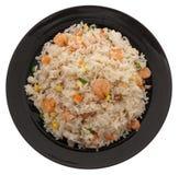 китайская еда Рис с креветками и овощами Стоковые Фотографии RF