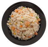 китайская еда Рис с креветками и овощами Стоковая Фотография