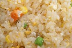 китайская еда Рис с яичками и овощами Стоковое Изображение