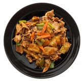 китайская еда Свинина с aubergines и овощами Стоковое фото RF