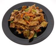 китайская еда Свинина с aubergines и овощами Стоковое Изображение