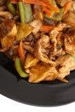китайская еда Свинина с aubergines и овощами Стоковые Фотографии RF