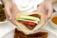 Китайская еда, утка Пекина Стоковые Фотографии RF