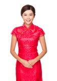 китайская женщина портрета Стоковые Изображения