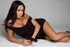 китайская женщина пушки Стоковые Фото