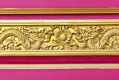 Китайская золотая предпосылка дракона Стоковые Изображения