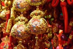 Китайская золотая сумка денег Стоковое Изображение
