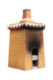 китайская изолированная печь Стоковое Изображение