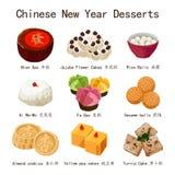 Китайская иллюстрация десертов Нового Года стоковые фотографии rf