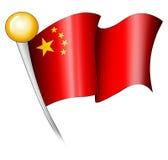 китайская иллюстрация флага Стоковое фото RF