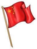 китайская иллюстрация флага Стоковые Фотографии RF