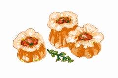 Китайская иллюстрация вареников Стоковое Изображение RF