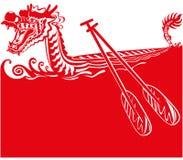 Китайская иллюстрация предпосылки шлюпки дракона иллюстрация штока