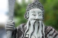 Китайская каменная кукла на виске изумрудного Будды Стоковые Изображения