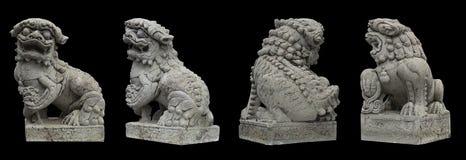 Китайская каменная статуя Бангкок Таиланд льва Стоковое фото RF