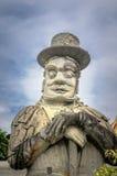 Китайская каменная статуя в Wat Pho, Бангкоке, камне ThailandChinese Стоковая Фотография