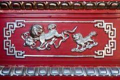 китайская картина льва Стоковое Фото