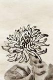 китайская картина традиционная иллюстрация вектора