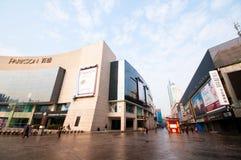Китайская коммерчески пешеходная улица стоковые фотографии rf