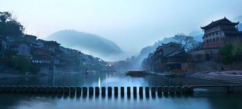 китайская краска ландшафта Стоковые Фото