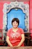 китайская крытая женщина Стоковая Фотография RF