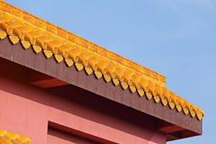 Китайская крыша виска Стоковое Изображение