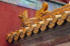 китайская крыша деталей традиционная Стоковое фото RF