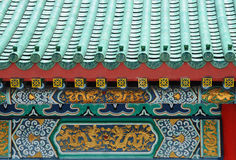китайская крыша детали Стоковая Фотография