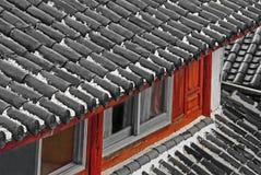 китайская крыша дождя Стоковые Изображения RF