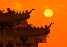 китайская крыша дракона Стоковое Фото
