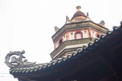 китайская крыша дома Стоковое Изображение