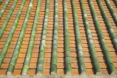 Китайская крыша покрывает фото года сбора винограда и предпосылки Стоковое Изображение