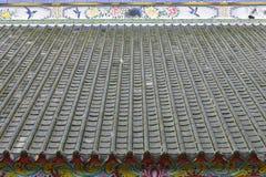 Китайская крыша святыни, Бангкок, Таиланд Стоковое Изображение